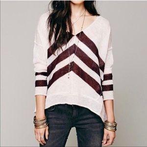 Free People • Alpaca Twelve Rose V-Neck Sweater